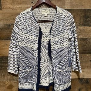 Lucky Brand Small Fringe Open Sweater Cardi